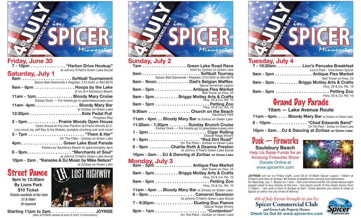 Spicer 4th Of July Celebration Spicer Minnesota July