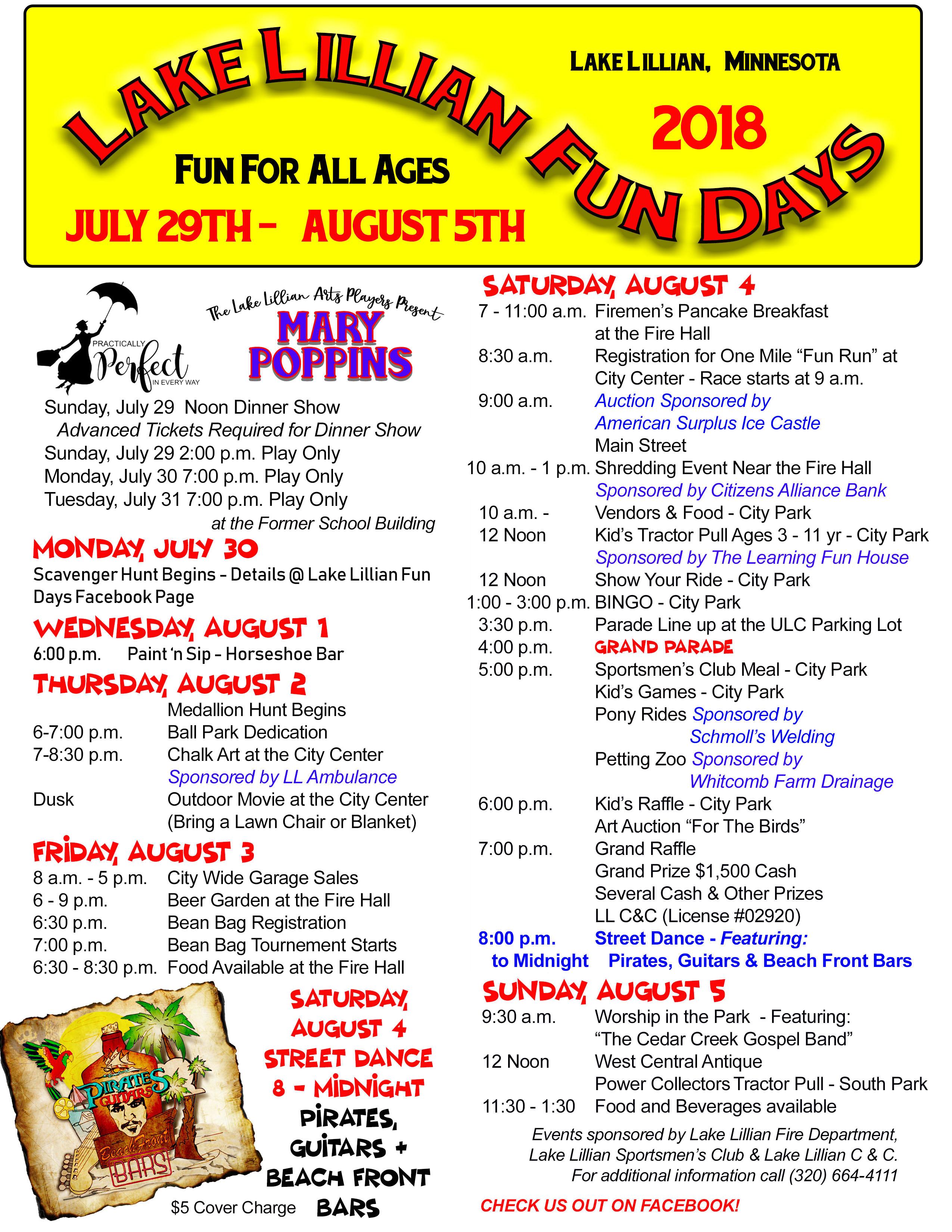 d550abf1d42a Lake Lillian Fun Days - Lake Lillian