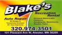 Blake's Recreation Rental & Auto Repair