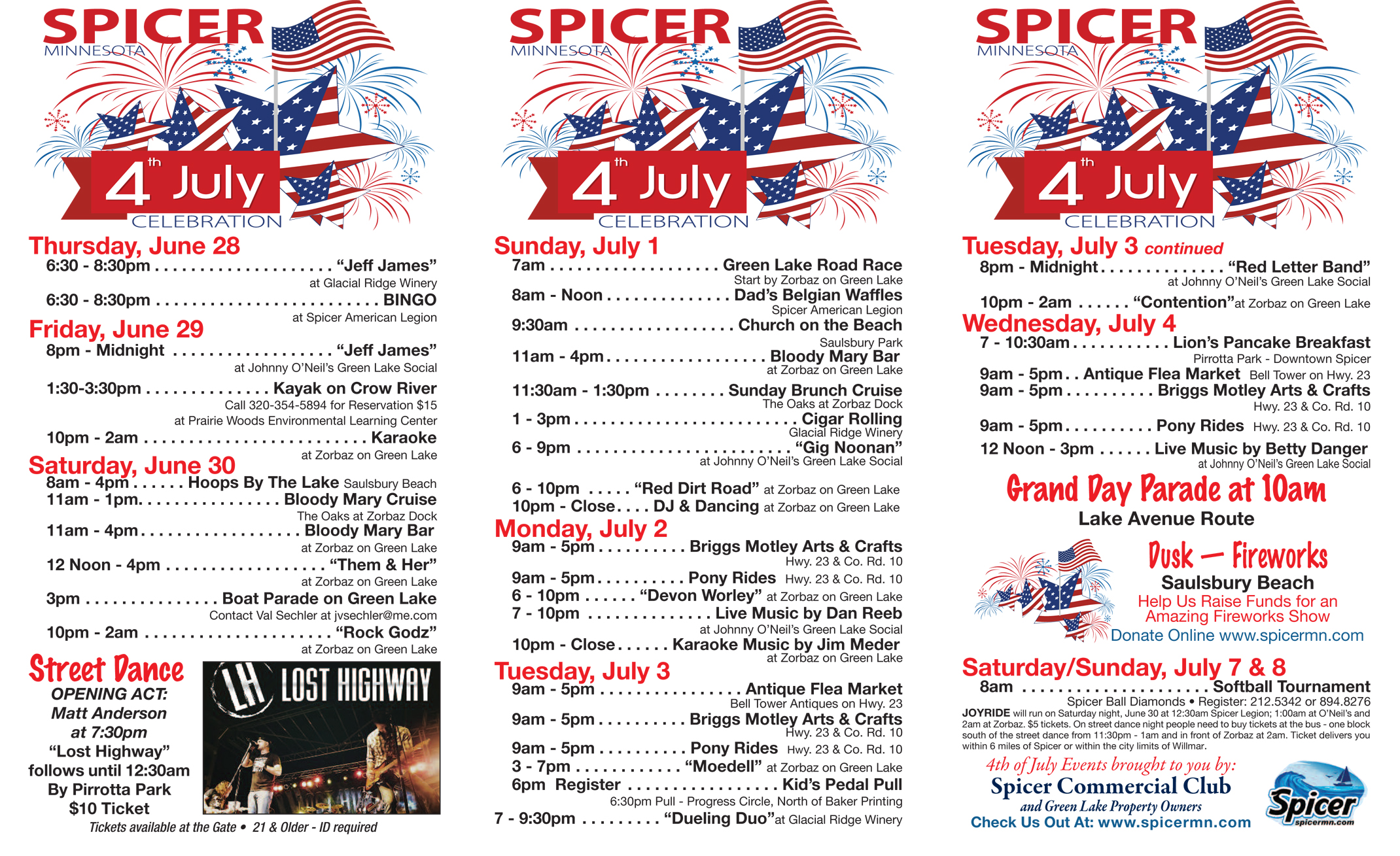 Spicer 4th Of July Celebration Spicer Minnesota June
