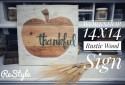 Thankful Rustic Wood Sign Workshop