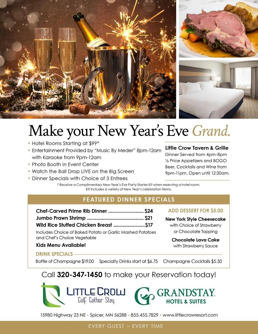 New Year's Eve at Little Crow Golf Resort - Spicer